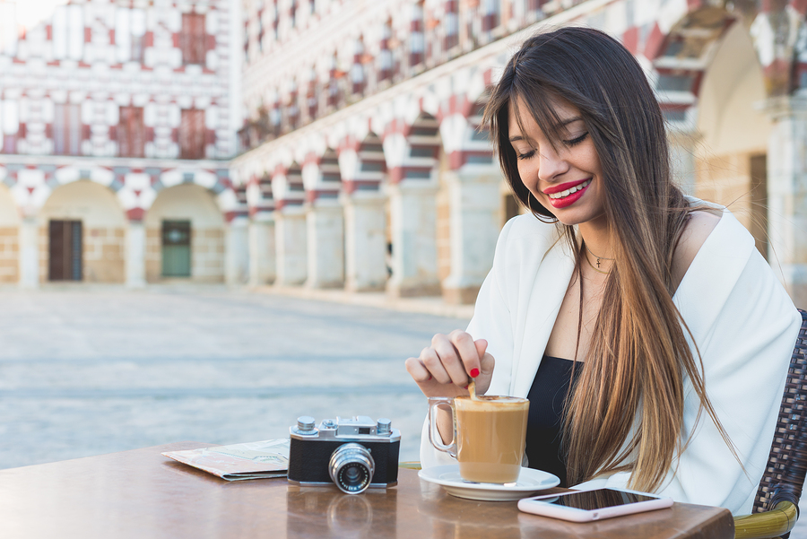 happy-woman-coffee-spain
